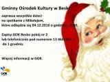 Spotkanie z Mikołajem w GOK-u