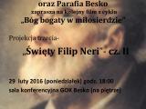 GOK Besko zaprasza na film Św. Filip Neri cz.2